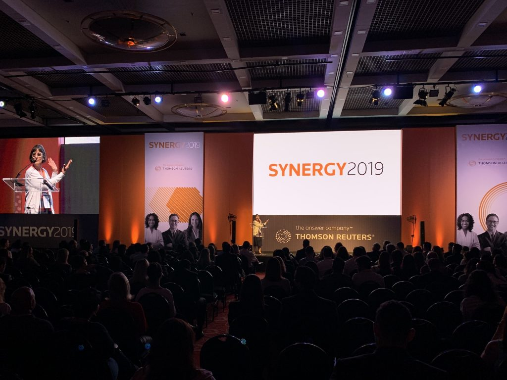 B.Hub realizou o evento SYNERGY 2019 para a Thomson Reuters no WTC.